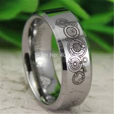doctor who engagement ring free shipping ygk jewelry hot sales 8mm silver beveled doctor who