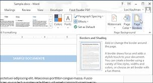how to add a border to an entire page in word