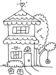 two story house coloring page free clip art