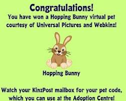 hopping bunny new hopping bunny giveaway arrives in webkinz world updated
