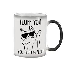 aliexpress com buy fluff you funny cat mug coffee mugs magic