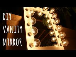 How To Make A Makeup Vanity Mirror Diy Hollywood Vanity Mirror Only 100 Youtube