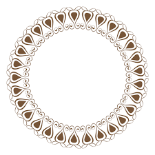 circle frame with ornaments transparent png svg vector