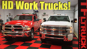 chevy earthroamer 2017 ram hd and chevy hd work truck compared youtube