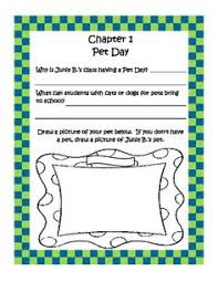 junie b jones and the stupid smelly unit journal topics