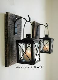 rod iron home decor black lantern pair 2 with wrought iron hooks on recycled