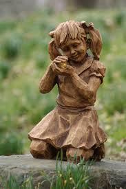 Solar Garden Ornaments Outdoor Decor Girl W Firefly Solar Statue For The Garden Statues U0026ornaments