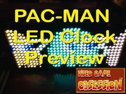 pac man premium led desk clock 512 vibrant led u0027s youtube