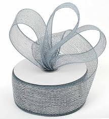 iridescent ribbon silver iridescent metallic mesh ribbon anniversary 25th and 50th