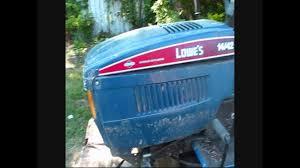 1993 lowe u0027s mtd lawn tractor youtube