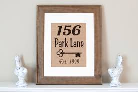 home decor address address home decor personalized burlap print address wall decor