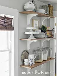 Kitchen Open Shelves Ideas by White Kitchen Shelves Kitchens Design