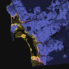 San Francisco Elevation Map San Diego California U2013 Elevation And Population Density 2010