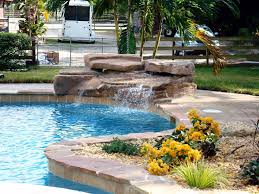 rock waterfalls for pools modern home