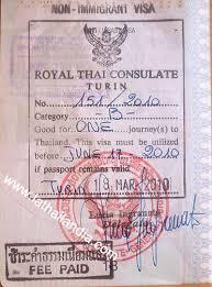 consolati thailandesi in italia visto non immigrant b per lavoro e affari in thailandia