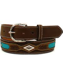 leather ribbon nocona men s leather ribbon overlay western belt country outfitter
