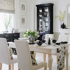 contemporary dining room decoration with flower pattern table