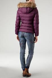martini purple tommy hilfiger martina hooded jacket in purple lyst