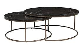 black marble coffee table elle round marble nest coffee tables by globewest make your house