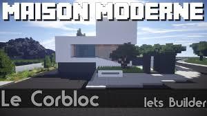 Maison Modern Minecraft by Minecraft Maison Moderne Visu Style Youtube