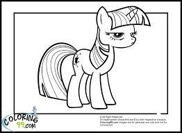 twilight sparkle pony coloring pages get coloring pages