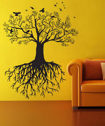vinyl wall decal sticker tree with birds os dc176
