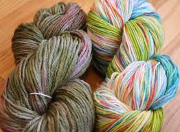 chemknits lucky dyes yarn for the first time