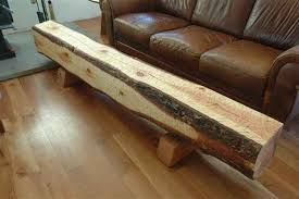 Rustic Log Benches - hand hewn recycled log block bench by dumond u0027s custom furniture