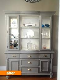 painted dining room hutch before after an outdated hutch goes