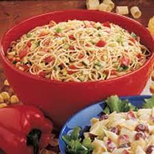 recipes for pasta salad italian spaghetti salad recipe spaghetti salad summer spaghetti