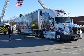 American Flag On Truck Wreaths Across America Stops In Ellsworth On Way To Arlington