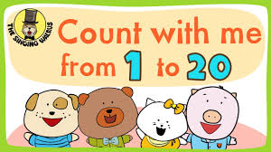 counting numbers 1 to 20 number song 1 20 for children counting numbers the singing
