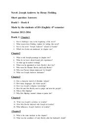 Character Sketch Essay Sample Novel Joseph Andrews Short Question Answers Made By Bs English 4th U2026