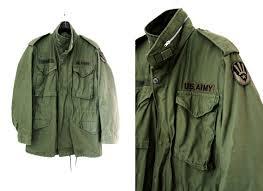 Green Parka Jacket Mens Vintage Mens Green Us Army M 65 Field Jacket At Cutandchicvintage