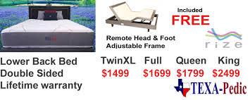 austin texapedic mattress with gel memory foam u2014 austin discount