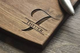 wedding gifts engraved personalized engraved cutting board walnut custom cutting board pers