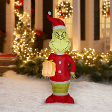 grinch yard inflatable blow up airblown outdoor christmas