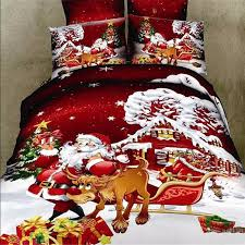 Bed Linen Sizes Uk - king queen size christmas cotton bed quilt duvet doona cover set