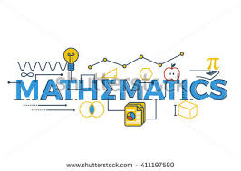 illustration mathematics word stem science technology stock vector