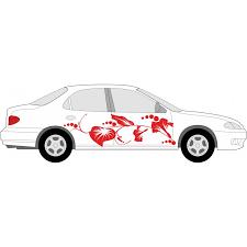 aufkleber selber designen aufkleber für auto individuelle hibiskus autoaufkleber blumen