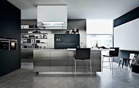 awesome black white glass stainless cool design kitchen modern