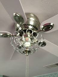 White Ceiling Fan With Chandelier Light Lamps Brass Crystal Ceiling Fan Chandelier With 5 Brown Blade For