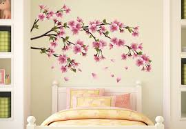 cherry blossom branch wall decal beautiful vinyl decoration