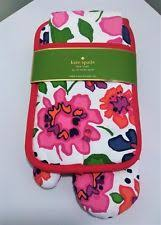 Kate Spade Kitchen Rug Green Floral Magnolia Mat Towel Oven Mitt Pot Holder 4