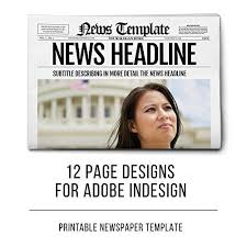 indesign newspaper template 12 pages by templates on