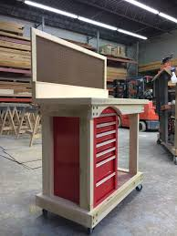 rolling workbench with tool storage the garage journal board