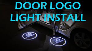 lexus es300 logo diy door welcome lexus logo light installation clublexus