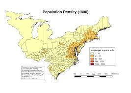 United States Population Distribution Map by Of The United States Population 1850 Mapping The American Coastal