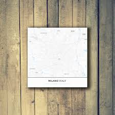 gallery wrapped map canvas of milano italy map art u0026 travel