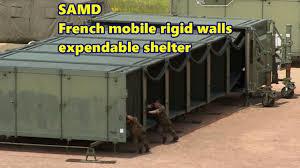 modern tech samd french mobile rigid walls expandable shelter modern tech samd french mobile rigid walls expandable shelter